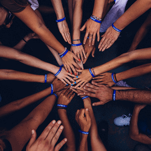 Unity - People with hands joined